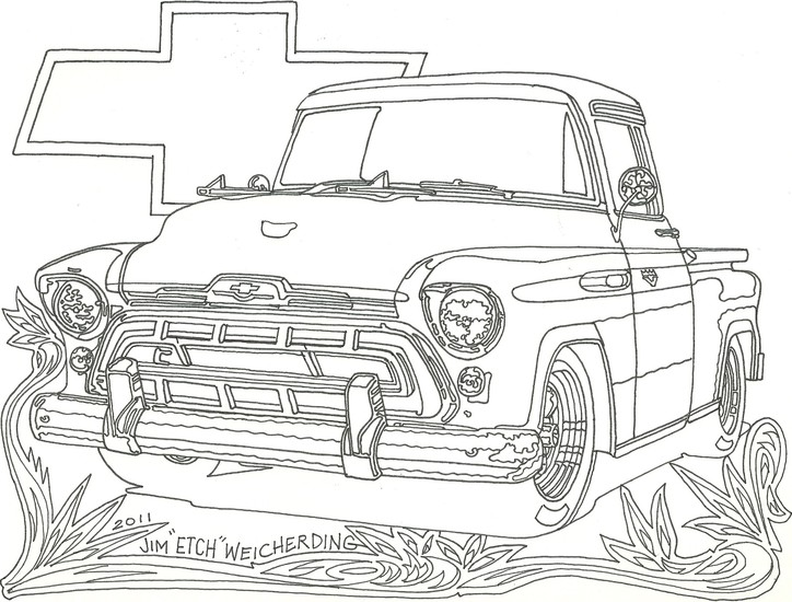chevy car coloring pages - photo#34