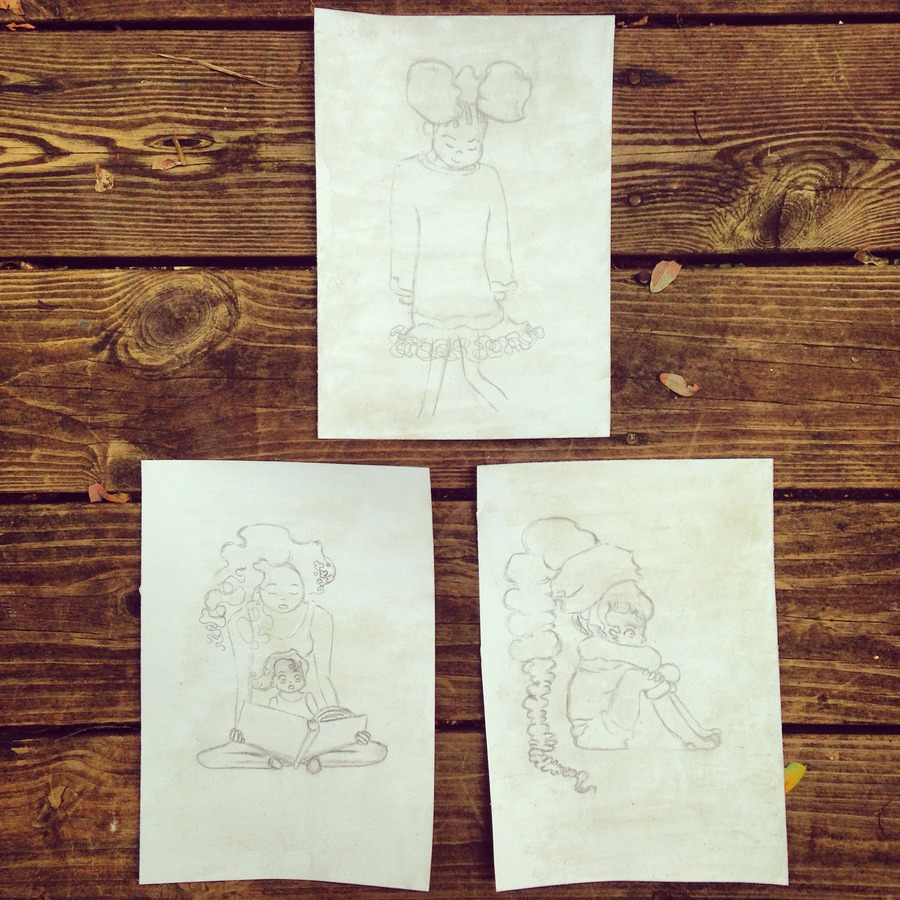 Children illustrate sketching 3