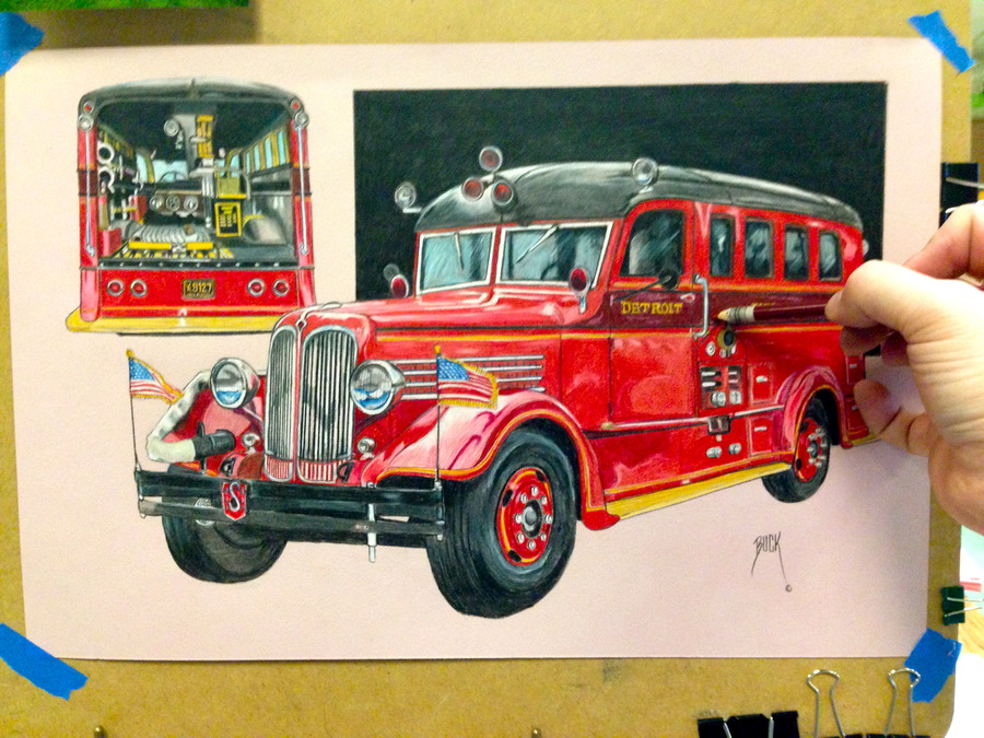 Fire Fighter's Hearse
