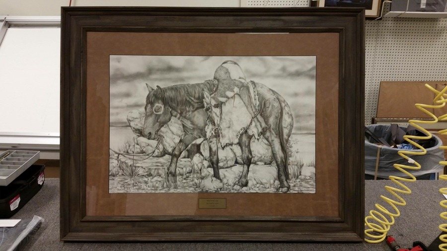 Meat For The Camp framed 24x32