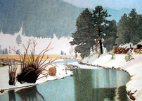 EVERGREEN LAKE WINTER