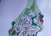 Zentangle Dress WIP