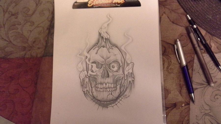 candle skull 2