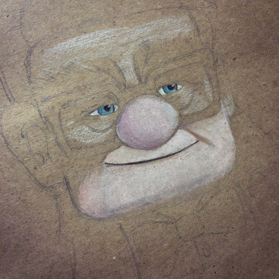 Disneys Carl from up progress