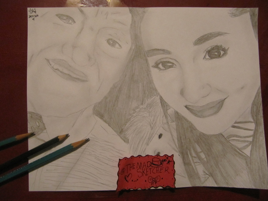 Ariana Grande and Her Grandpa drawing