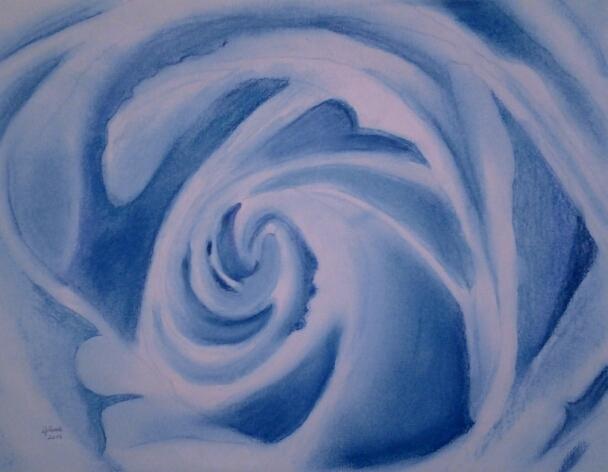 Big blue rose