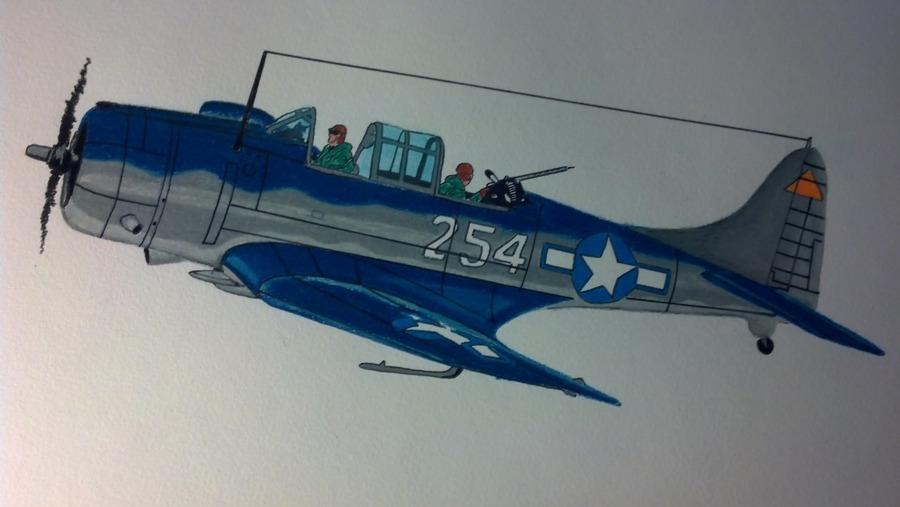 WWII USN Douglas SBD Dauntless