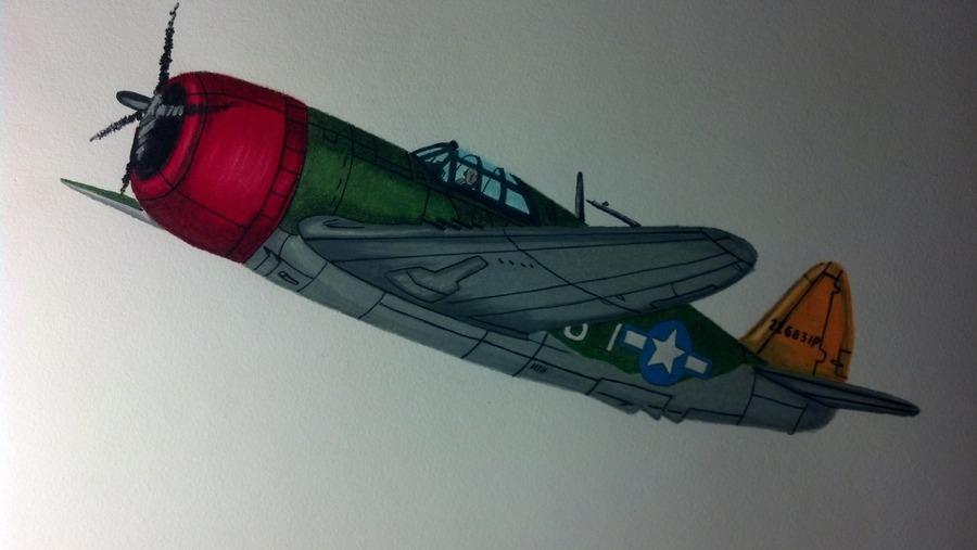 WWII Republic P-47D-20 Thunderbolt