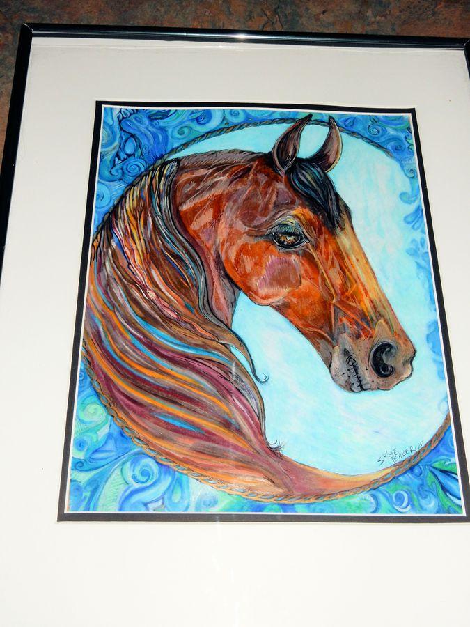 Moon horse blue