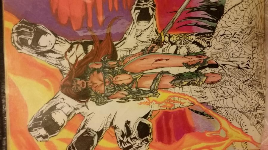 Witchblade armor hand