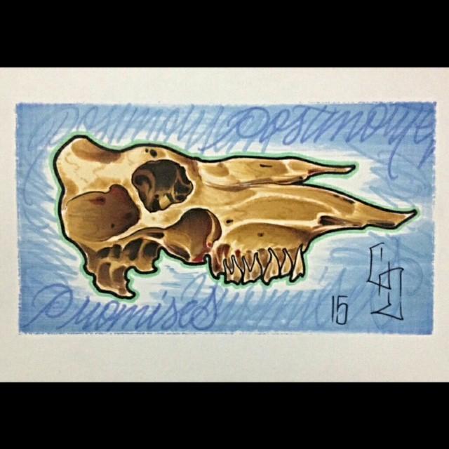 Postmortem Promises (Horse Skull)