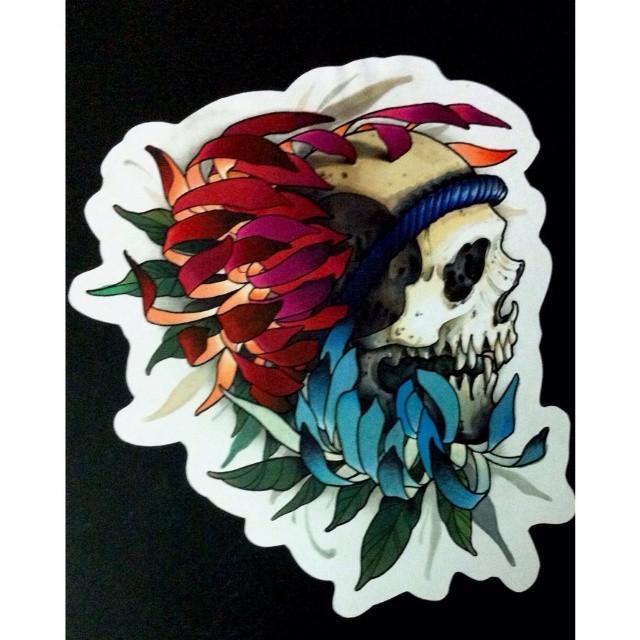 Chrysanthemum + Skull