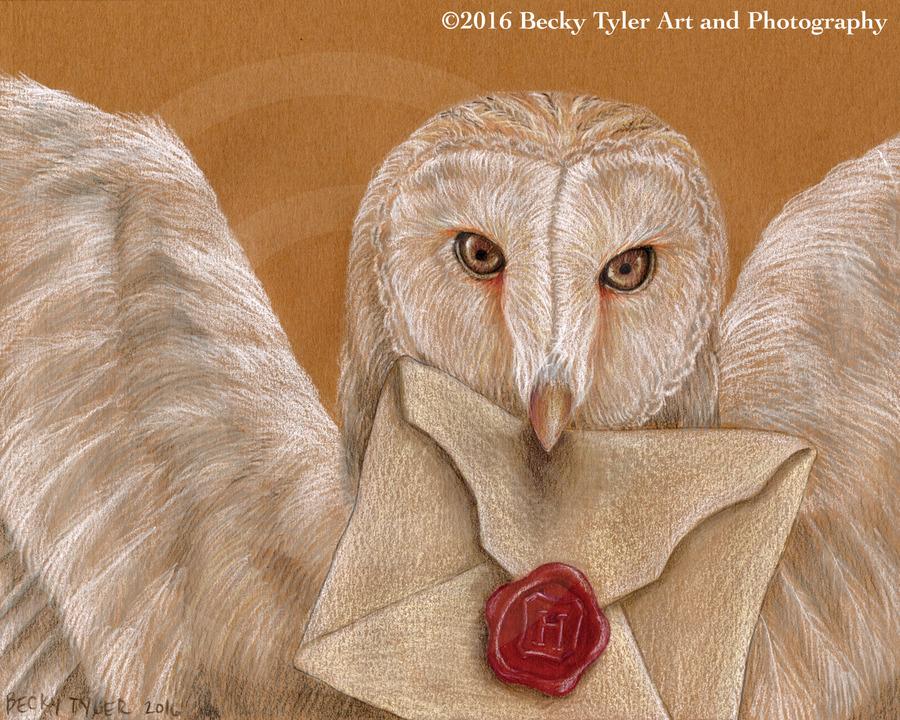 Owl with Hogwarts Letter