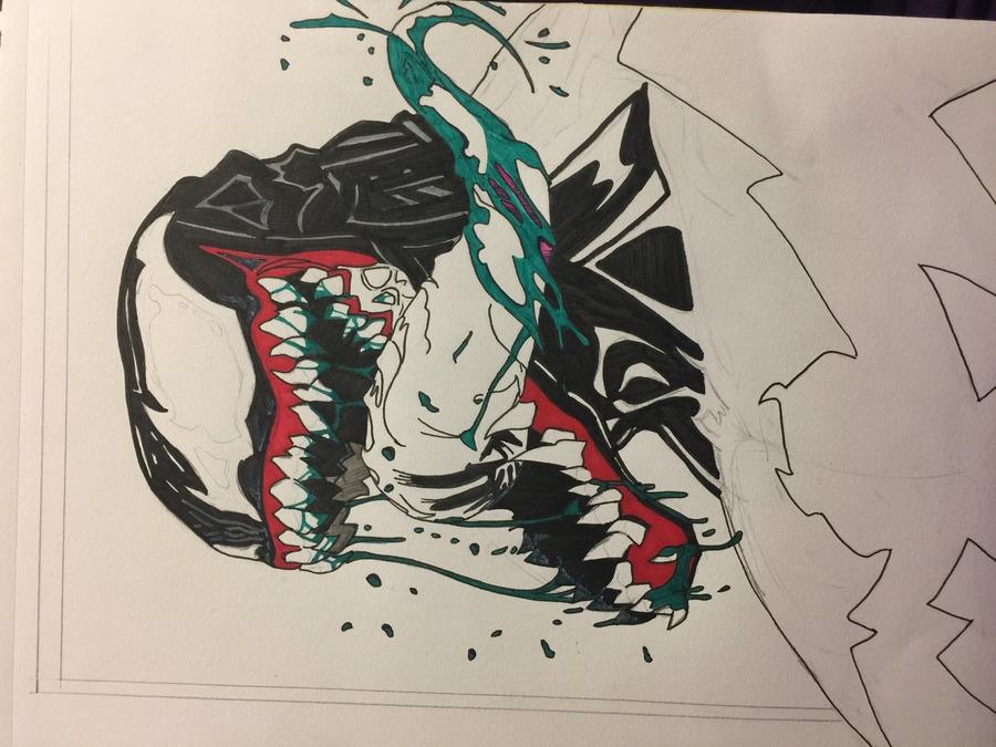 Venom Portrait in Progress