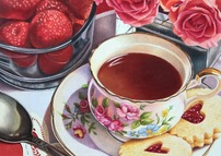 Tea Time with Strawberries  and Sugar Co