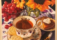 Tea Time with Sunflowers and Pecan Pie