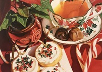 Tea Time with Cookies and Candy Canes