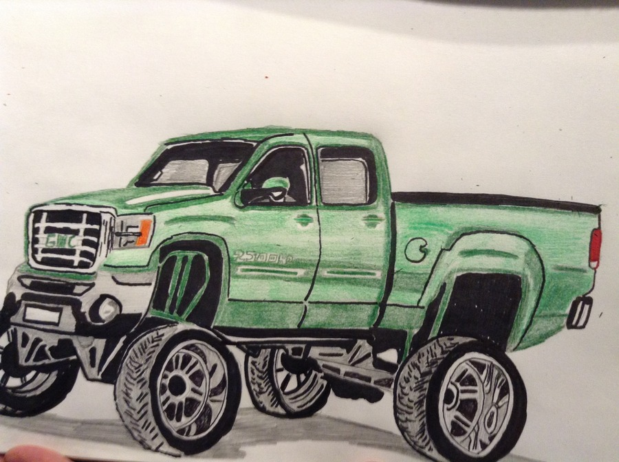 All Jacked up GMC Truck