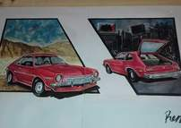 Portrait of my Ford Pinto 71 The R Rojo