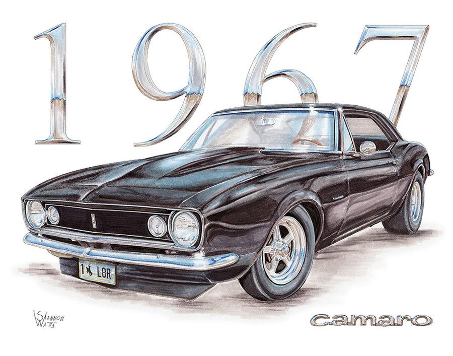 1967 Camaro in Black