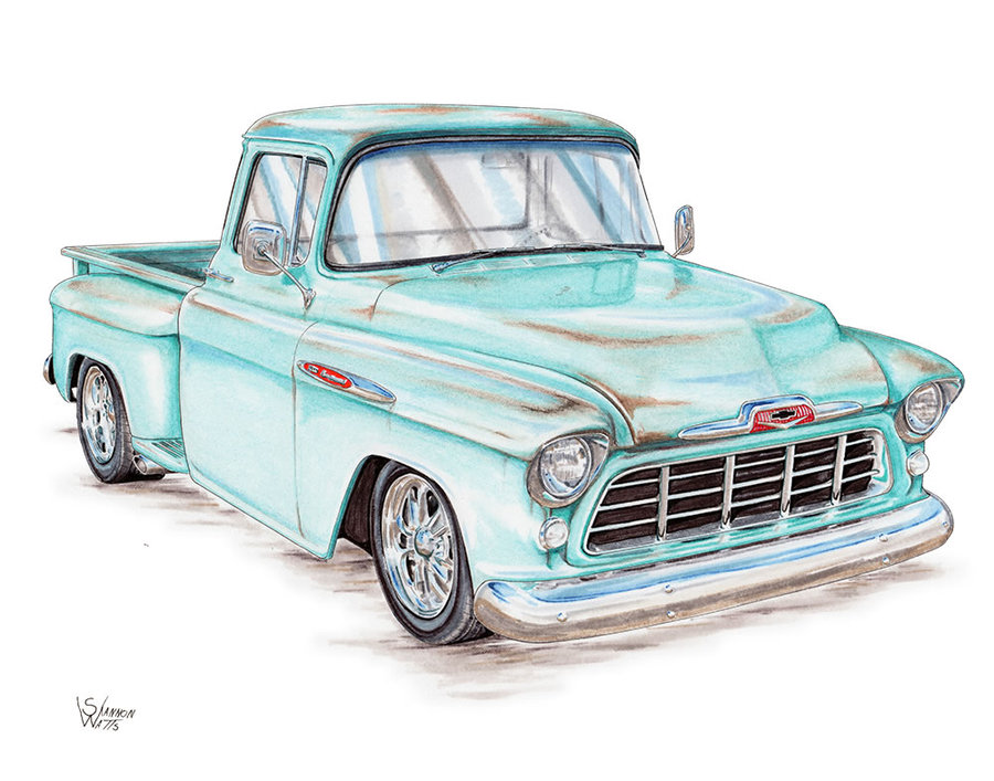55 Chevy Truck with Patina
