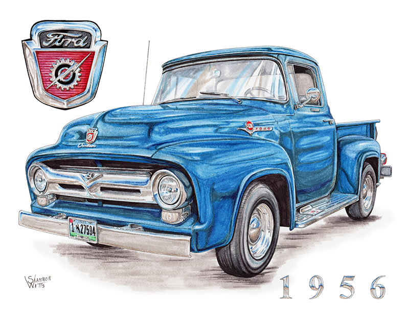1956 Ford F-100 in Blue